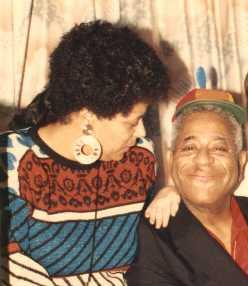 Joan Cartwright and Dizzy Gillespie, Sunfest, West Palm Beach, FL 1985